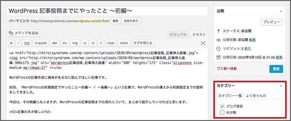 wordpress記事投稿_カテゴリキャプチャ2