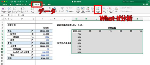 エクセル感度分析_画像14