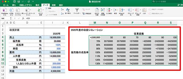 エクセル感度分析_画像19