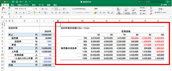 エクセル感度分析_画像5