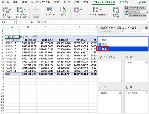 ピボットテーブルの使い方_画像14