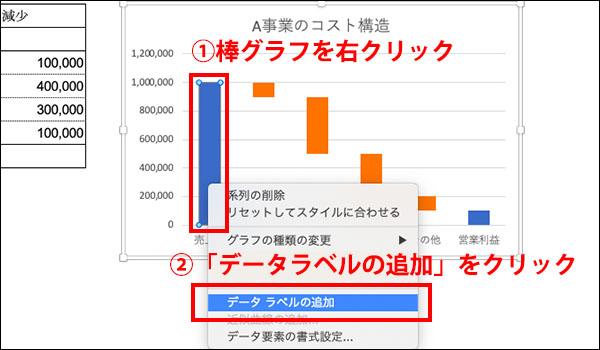 エクセル_滝チャートの作り方ブログ_画像15
