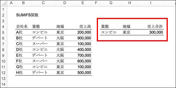 エクセルのSUMIFS関数の記事_画像11