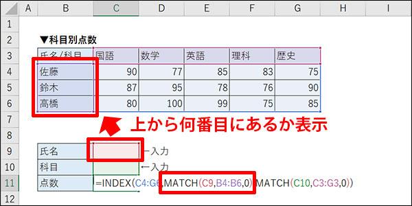 エクセルの交差する値の検索方法_画像20