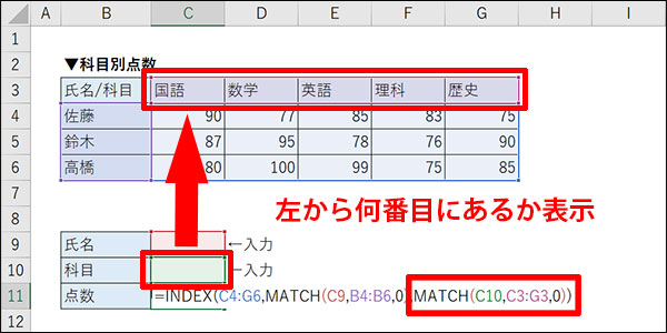 エクセルの交差する値の検索方法_画像21